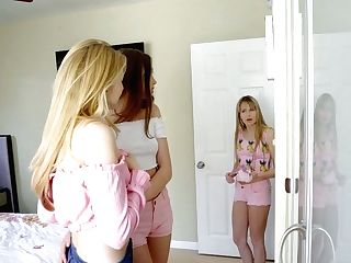 Lecherous Damsel Scarlett Sage Gets Nasty With Stepsister And Her Gf