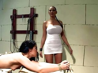 Teenager Dicapri Gets Tied Up And Spanked By Big-titted Whore